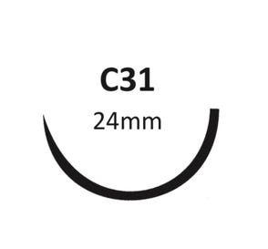 """Plain Gut 3-0 C-31 18"""" - 12/Box"""