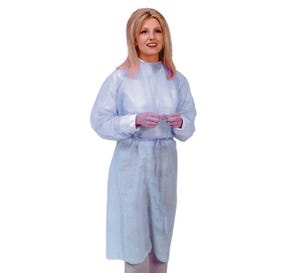 Blue - Latex-Free Isolation Gown, Knit Cuff - 50/Case