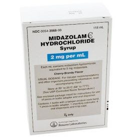 Midazolam HCl Syrup, 2mg/ml 118ml Bottle