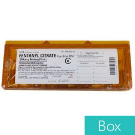 Fentanyl Citrate 0.05mg/ml 5ml Single Dose Ampul, - 10/Box