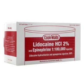 Lidocaine 2% w/Epi 1:100,000 Carpule - 50/Box
