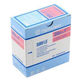 "SURFLO® IV Catheter, 20G x 1"", Pink - 50/Box"