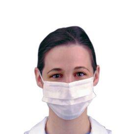 ComFit® Super Sensitive Tie On Mask ASTM 1 White - 50/Bx, 6BX/CS