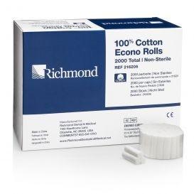 """Econo Cotton Rolls, 1 1/2"""" with 3/8"""" Diameter, Non-Sterile, - 12/Box"""