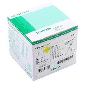 """Introcan® Safety IV Catheter 24G x 3/4"""" Straight Polyurethane - 50/Box"""