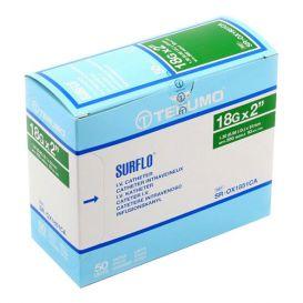 "SURFLO® IV Catheter, 18G x 2"", Green - 50/Box"
