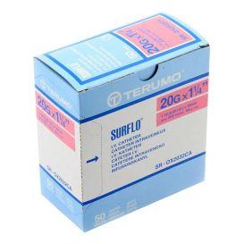 "SURFLO® IV Catheter, 20G x 1 1/4"", Pink - 50/Box"
