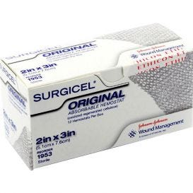 "Surgicel® Absorable Hemostat 2"" x 3"" - 12/Box"