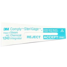 "Comply™ SteriGage™ Steam Chemical Integrator 2"" x ¾"" - 500/Pack"