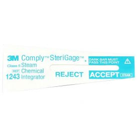 "Comply™ SteriGage™ Steam Chemical Integrator 2"" x ¾"" - 100/Pack"