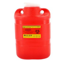 Sharps Collector, One-Piece, 8.2 Quart (Large), Red w/ Regular Funnel Entry