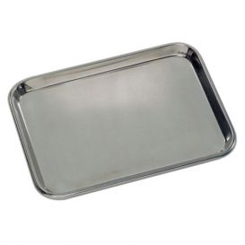 "Instrument Tray, 13-5/8"" x 9-3/4"" x 5/8"", Stainless Steel"