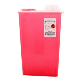 Sharps-A-Gator™ Sharps Container, 14 Quart, Red, Chimney Top