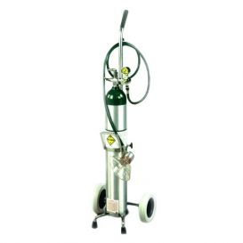 Oxygen Cylinder Cart for D or E Cylinder