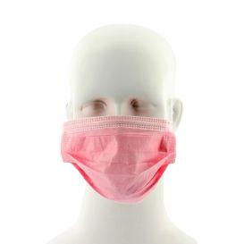 Procedure Mask, w/Earloops, Pink - 50/Box