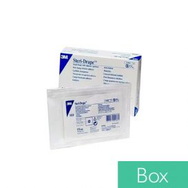"Steri-Drape™ Small Drape with Adhesive Aperture, 15"" x 15"", Clear - 10/Box"