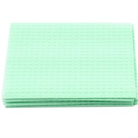 """Patient Towel Tissue/Poly 13"""" x 18"""" 3-Ply Green - 500/Case"""