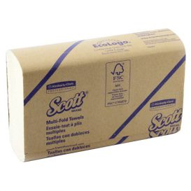 "Scott® Multi-Fold Towels, 9.2"" x 9.4"", White - 4000/Case"