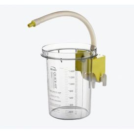 Quick-Fit™ Reusable Outer Canister, 1500 cc w/ Attached Yellow Stopcock Bracket