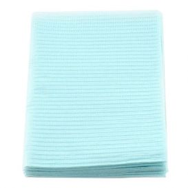 """Econoback® Patient Towels, 2-Ply Tissue with Poly, 19"""" x 13"""", Blue - 500/Case"""