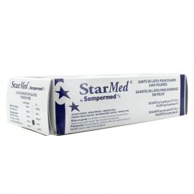 StarMed® Exam Gloves, Large, Latex, Powder-Free, Textured - 100/Box