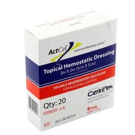 "ActCel® Topical Hemostatic Dressing, 2"" x 2"", Sterile - 20/Box"