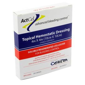 """ActCel® Topical Hemostatic Dressing, 4"""" x 4"""", Sterile - 20/Box"""