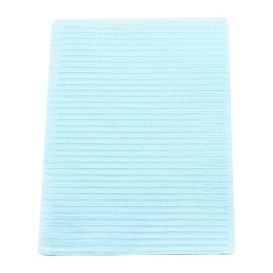 "Poly-Gard® Patient Towels, 3-Ply Tissue with Poly, 19"" x 16"", Blue - 500/Case"