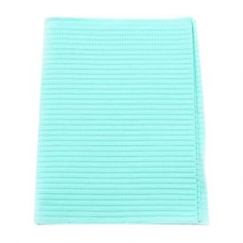 "Polyback® Patient Towels, 3-Ply Tissue with Poly, 19"" x 13"", Aqua - 500/Case"