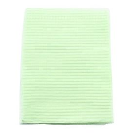 "Polyback® Patient Towels, 3-Ply Tissue with Poly, 19"" x 13"", Green - 500/Case"