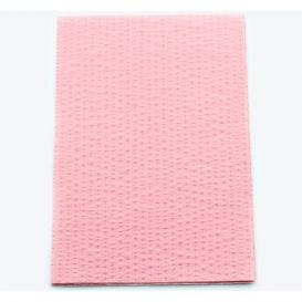 "Advantage Patient Towels, 2-Ply Tissue with Poly, 18"" x 13"", Dusty Rose - 500/Case"