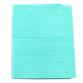 """Proback® Patient Towels, Extra Heavy Tissue with Poly, 19"""" x 13"""", Aqua - 500/Case"""