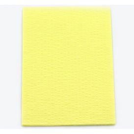 "Advantage Patient Towels, 2-Ply Tissue with Poly, 18"" x 13"", Yellow - 500/Case"