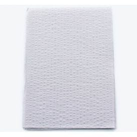 "Advantage Patient Towels, 2-Ply Tissue with Poly, 18"" x 13"", Silver Grey - 500/Case"