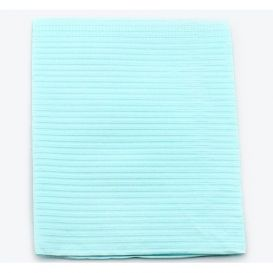 """Proback® Patient Towels, Extra Heavy Tissue with Poly, 19"""" x 13"""", Blue - 500/Case"""