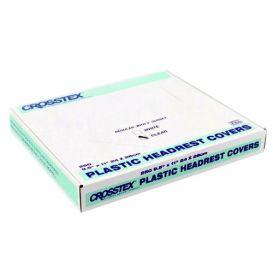 "Plastic Headrest Covers, 9.5"" x 11"" Regular, Clear - 250/Box"