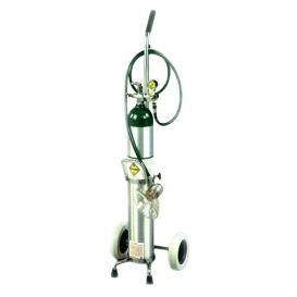 Oxygen Cart Demand Valve Resuscitator Kit w/Inhalator on Cart