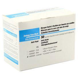 Earloop Face Mask, Anti-Fluid, ASTM Level 1 Lavender - 50/Box