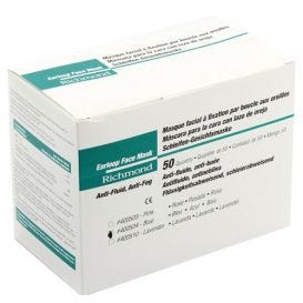 Earloop Face Mask, Anti-Fluid, Anti-Fog, ASTM Level 1 Blue - 50/Box
