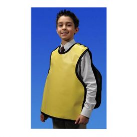 "Cling Shield™ Dual X-Ray Apron, Pano-Petite/Child, .3 mm, 19.875"" x 19.5"", Beige Vinyl"