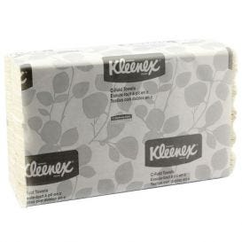"Kleenex® C-Fold Towels, 10.125"" x 13.15"", White - 2400/Case"