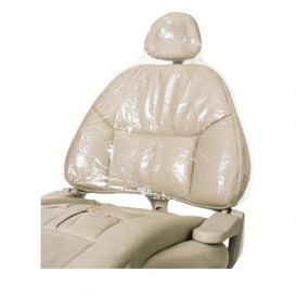 "Headrest Cover 14"" x 9 1/2"" x 2"" Clear - 250/Box"