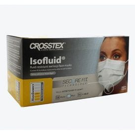 Isofluid® Earloop Mask w/ Secure Fit® Technology, Blue, ASTM Level 1 - 50/Box