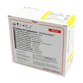 "Jelco® ACUVANCE®Plus Safety IV Catheter 24G x 5/8"" - 50/Box"