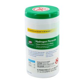 "Hydrogen Peroxide Cleaner Disinfectant Wipes, 6.75"" x 9"", 95/Canister - 95/Canister"
