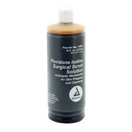 Povidone Iodine Scrub Solution, 16 oz