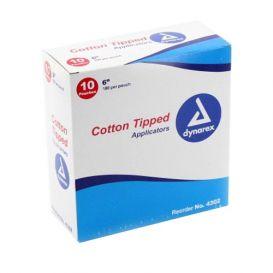 """Cotton Tipped Wood Applicators, Non-Sterile, 6"""" - 10/Box"""