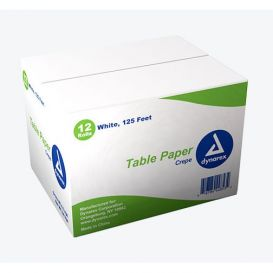 "Table Paper Crepe 18"" x 125' White - 12/Case"
