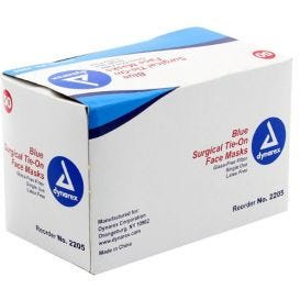 Surgical Mask w/Ties ASTM 1 Blue - 50/Box