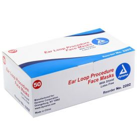 Earloop Mask w/Shield ASTM 1 Blue - 50/Box